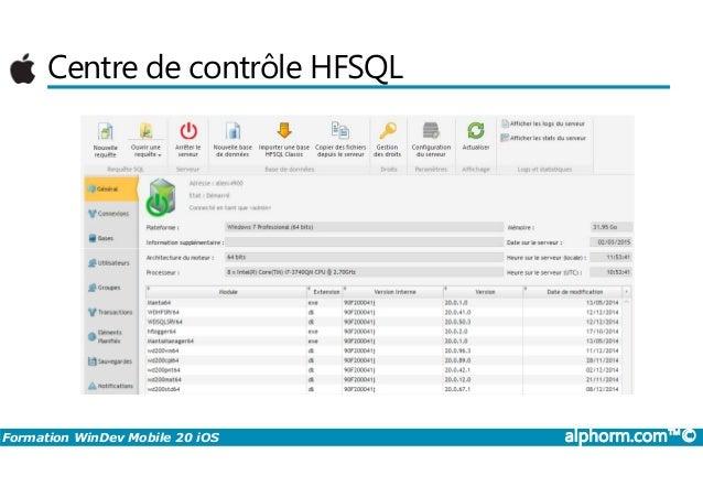 CONTRÔLE TÉLÉCHARGER HFSQL DE CENTRE