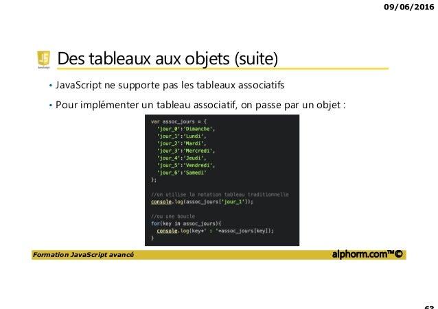 Alphorm Com Support De La Formation Javascript Avance