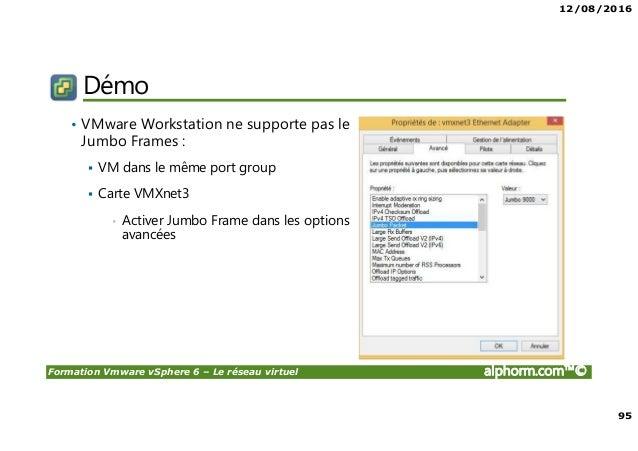 Alphorm.com Support VMware vSphere 6, Le réseau virtuel Vmware Ping Jumbo Frames