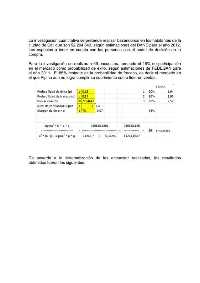 La investigación cuantitativa se pretende realizar basándonos en los habitantes de laciudad de Cali que son $2.294.643, se...