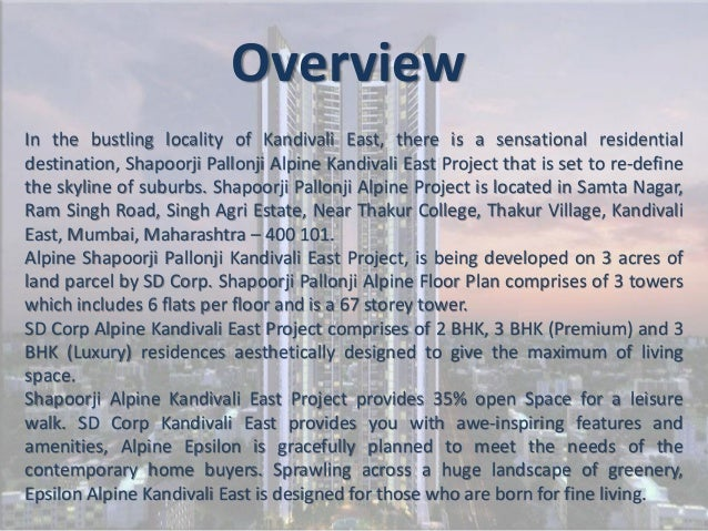 Shapoorji pallonji alpine kandivali for Living room kandivali east