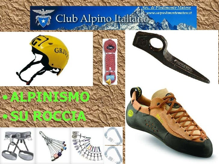 5 <ul><li>ALPINISMO </li></ul><ul><li>SU ROCCIA </li></ul>