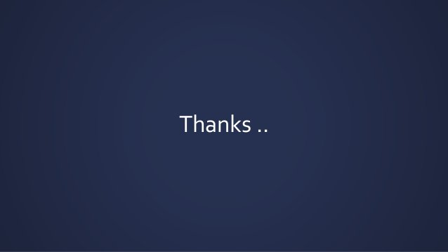 Thanks ..