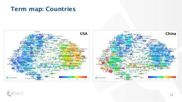 Term map: Countries 12 ChinaUSA