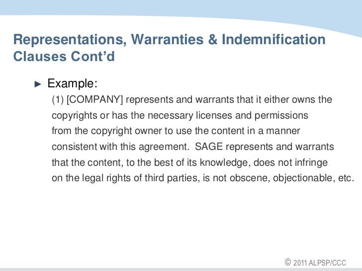 What Are Representations and Warranties in a Contract?