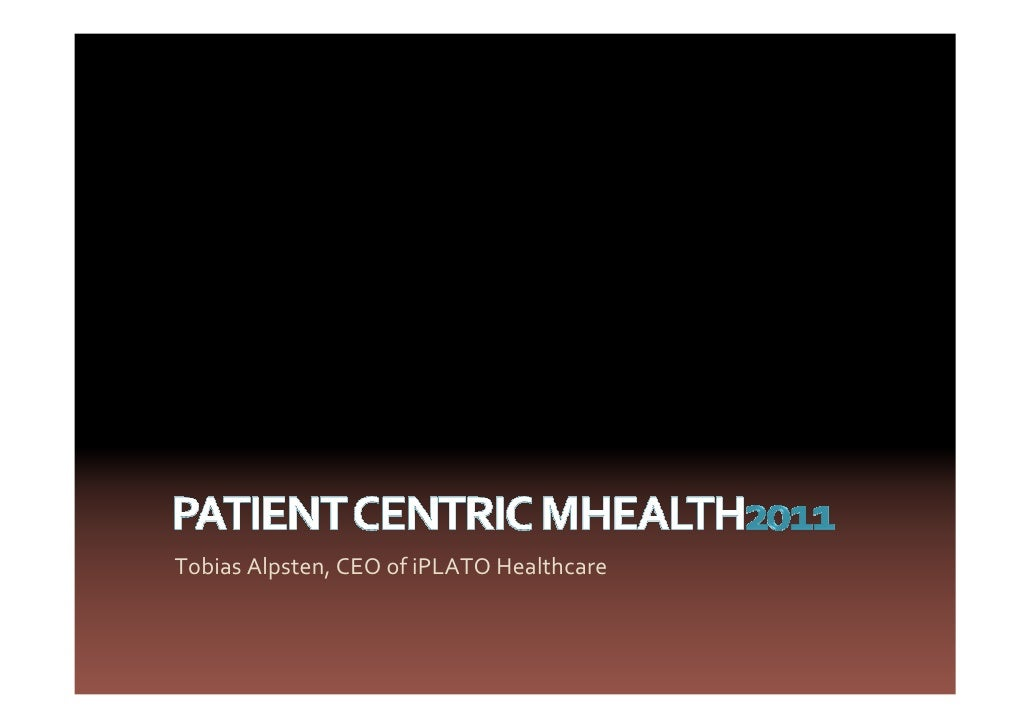 Tobias Alpsten, CEO of iPLATO Healthcare