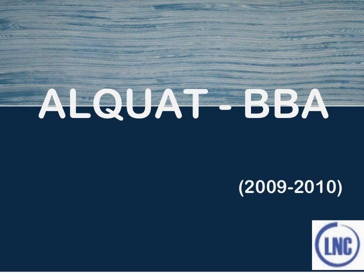 ALQUAT - BBA (2009-2010)