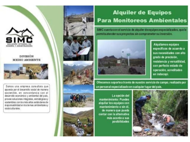 Alquiler de equipos de monitoreo ambiental