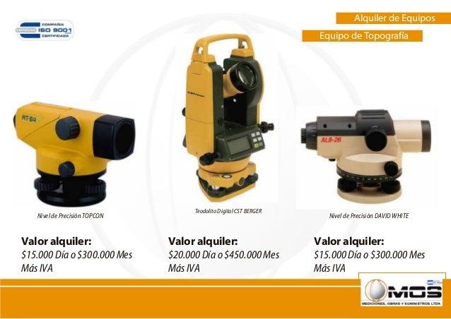 Alquiler de equipos construccion y topografia for Nivel de precision