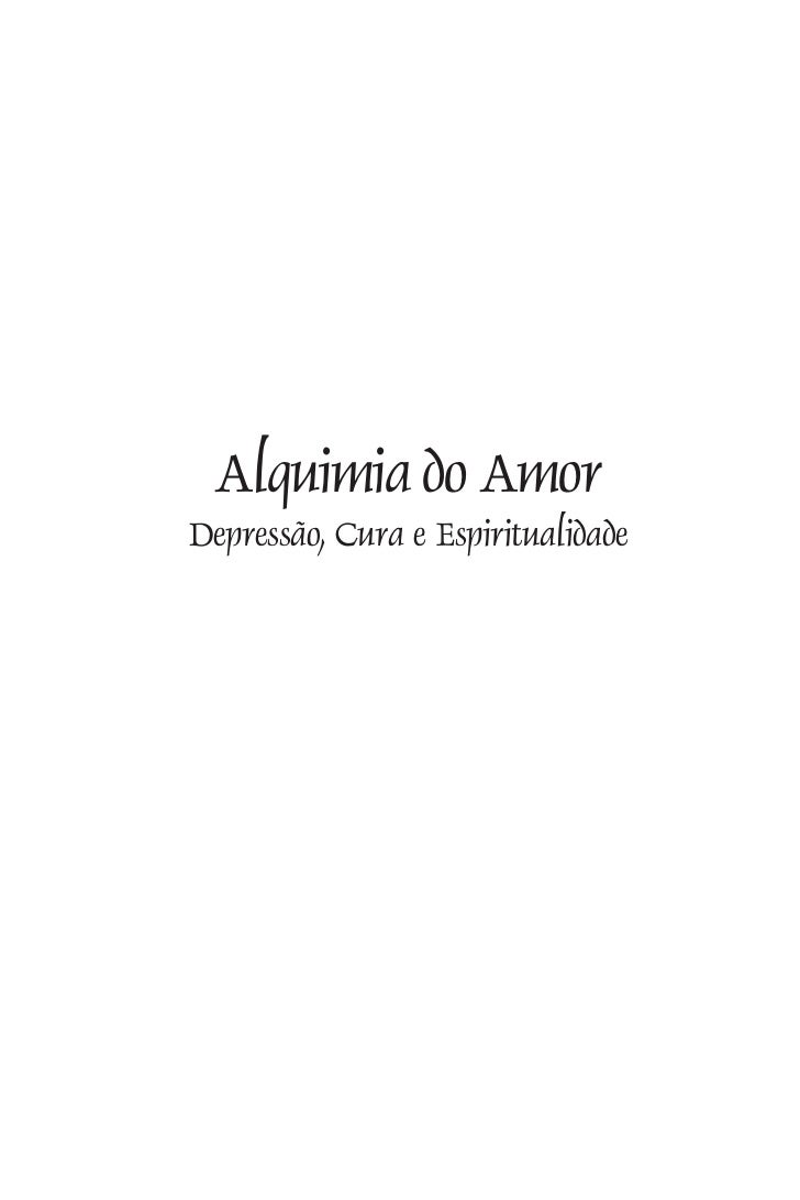 Alquimia do AmorDepressão, Cura e Espiritualidade