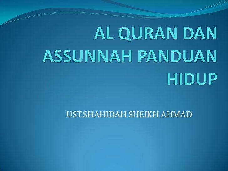 UST.SHAHIDAH SHEIKH AHMAD