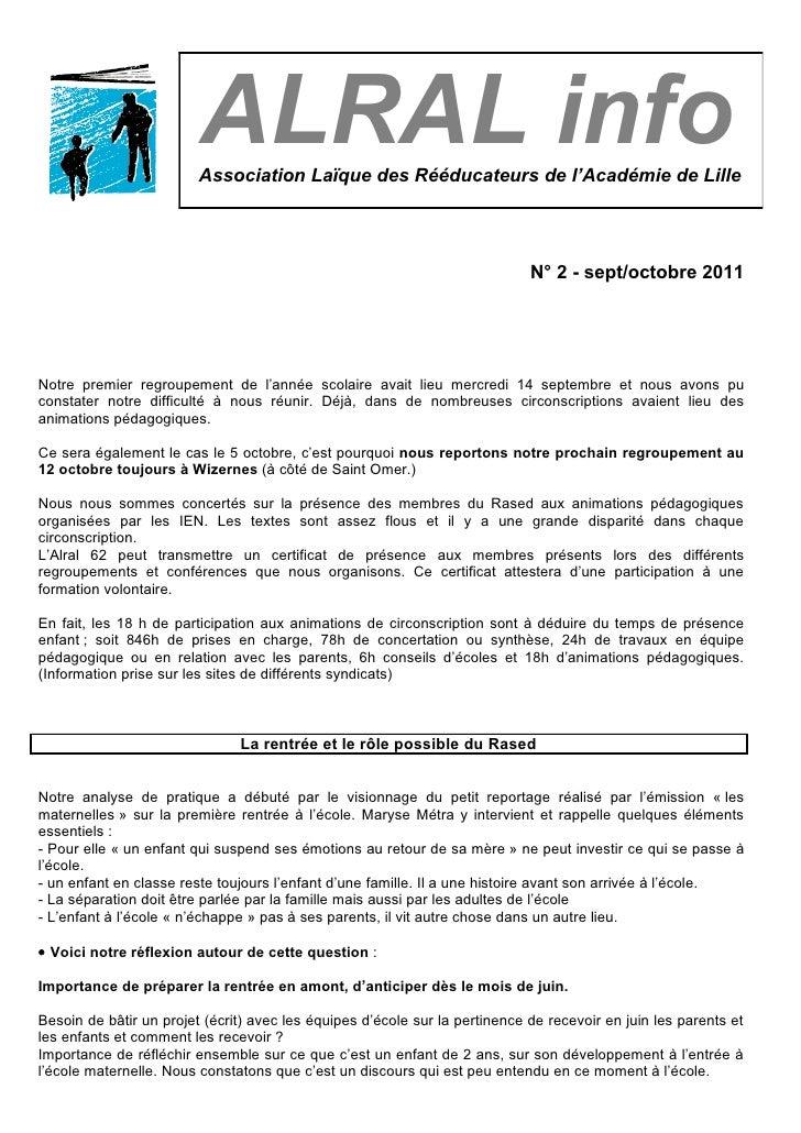 Alral info n°2 2011 12