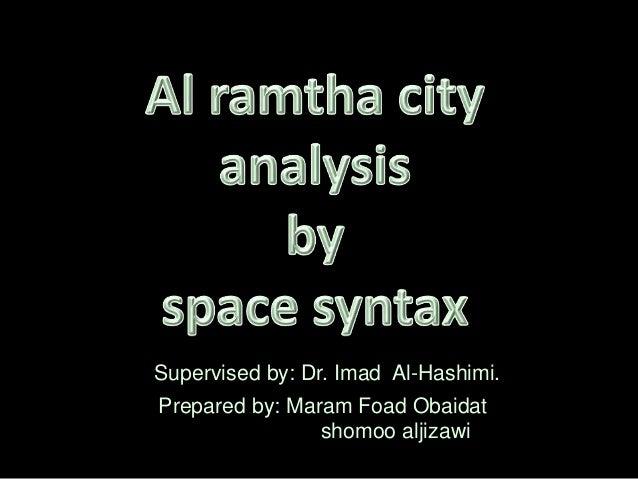 Prepared by: Maram Foad Obaidat shomoo aljizawi Supervised by: Dr. Imad Al-Hashimi.