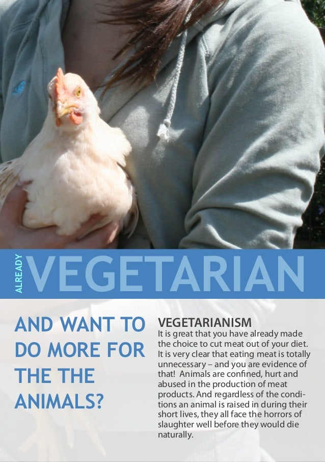 VEGETARIANISM It is great that you have already made the choice to cut meat out of your diet. It is very clear that eating...