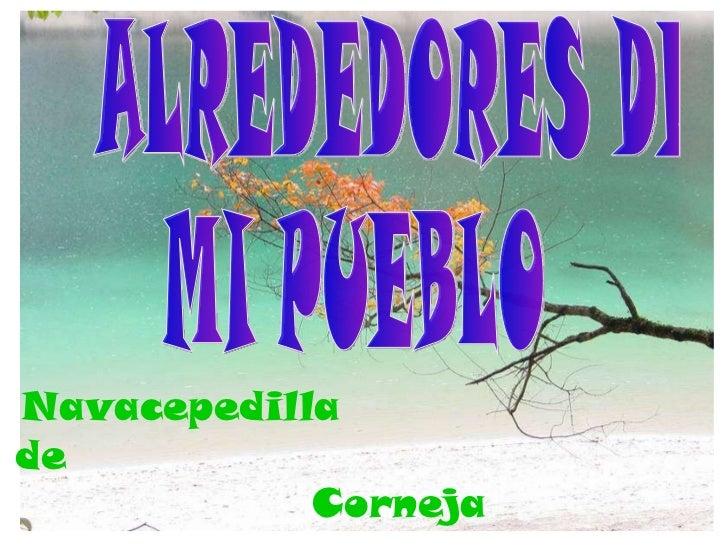 ALREDEDORES DE MI PUEBLO Navacepedilla  de  Corneja