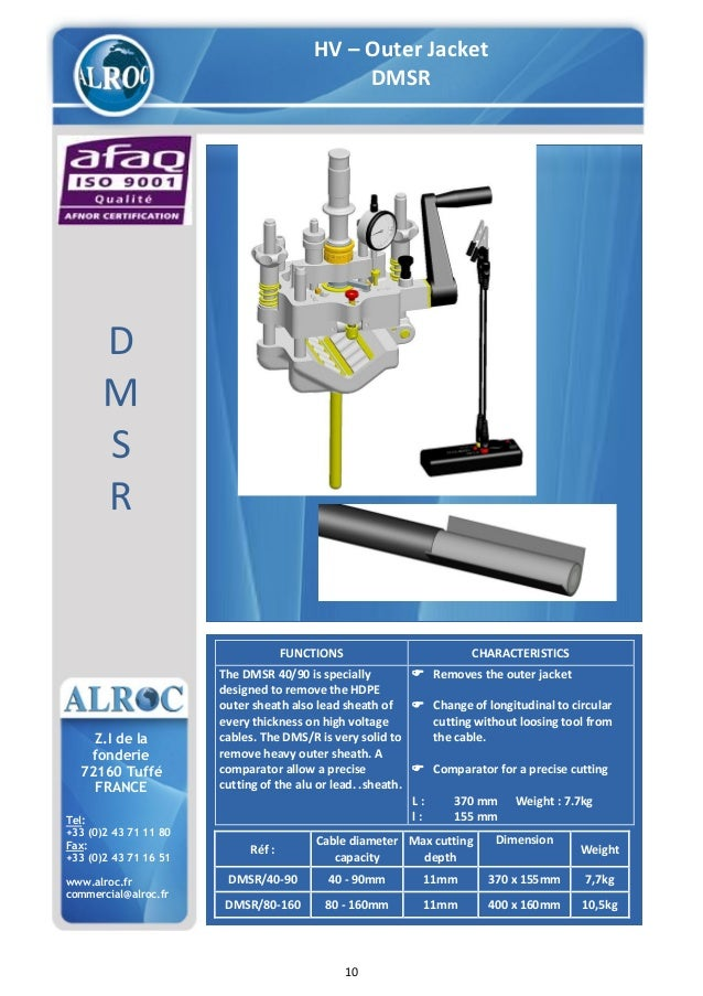 Alroc Tools Cable Stripping Amp Preparation Tools For Lv