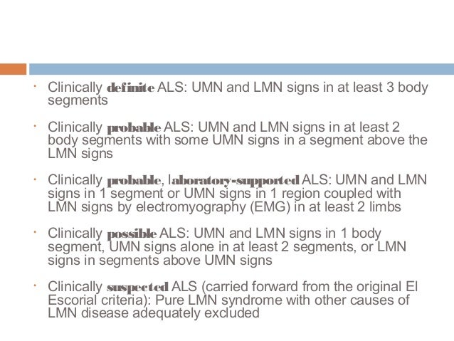 Amyotrophic Lateral Sclerosis (aka ALS or Lou Gehrig's Disease)
