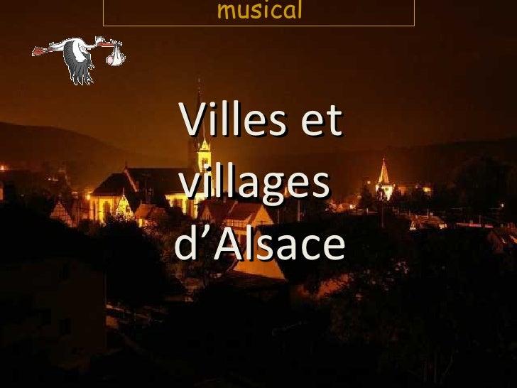 Villes et villages  d'Alsace musical