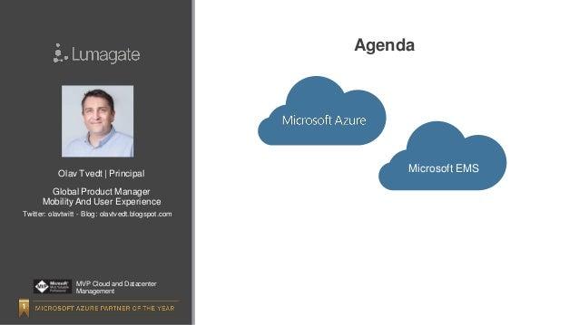 ALSO Roadshow - Azure and EMS presentation  Slide 2