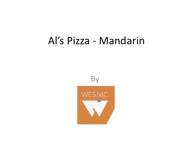 Al's Pizza - Mandarin<br />By <br />
