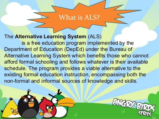 thesis alternative learning system Read this sample case study report and click on the highlighted text to see comments about the report alternative learning system is an alternative way proverb essay.