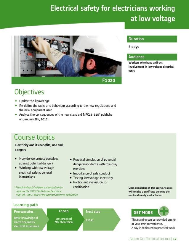 High Voltage Safety Training : Alstom high voltage training offer technical institute