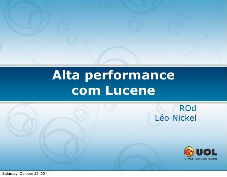 Alta performance                                com Lucene                                               ROd              ...