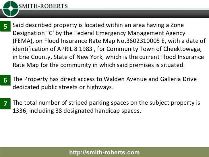 """5 Said described property is located within an area having a Zone   Designation """"C by the Federal Emergency Management Age..."""