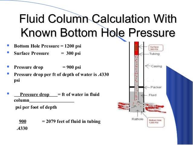 Bottom hole pressure calculation