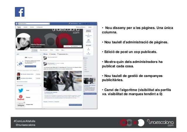"""""""Micropíndola: les novetats de les principals xarxes socials (2014"""") - III Jornada de Comunicació Local 2.0 d'Altafulla Slide 3"""