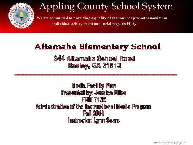 Appling County School System We are committed to providing a quality education that promotes maximum individual achievemen...