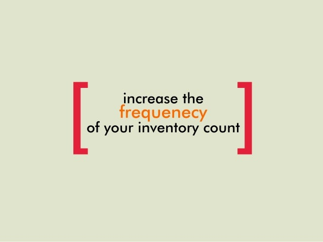 how to solve inventory problems