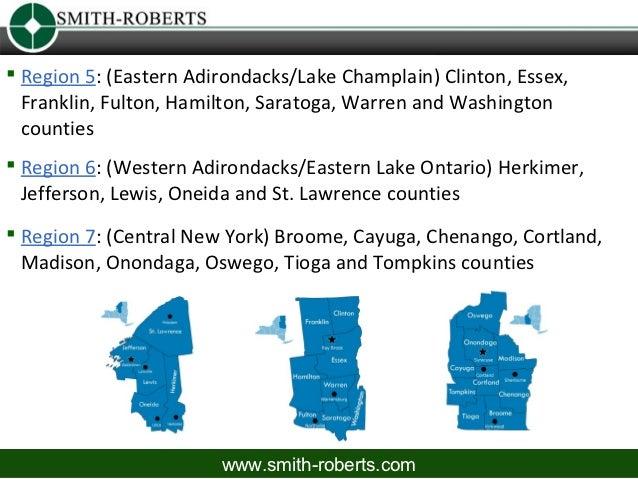  Region 5: (Eastern Adirondacks/Lake Champlain) Clinton, Essex,1  Franklin, Fulton, Hamilton, Saratoga, Warren and Washin...
