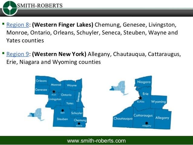 1 Region 8: (Western Finger Lakes) Chemung, Genesee, Livingston,  Monroe, Ontario, Orleans, Schuyler, Seneca, Steuben, Wa...