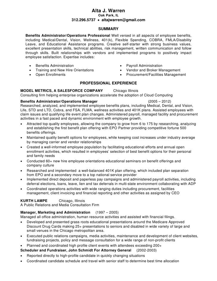 alta warren resume