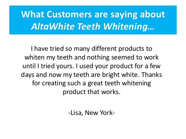 Buy Alta White Teeth Whitening Online And Save