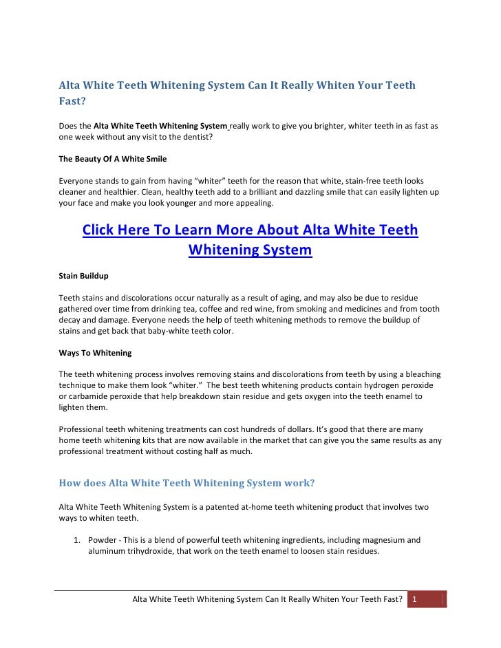Alta White Teeth Whitening System Can It Really Whiten Your Teeth Fas