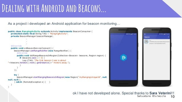 android beacon manager