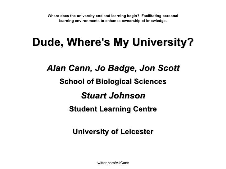 Where does the university end and learning begin?  Facilitating personal learning environments to enhance ownership of kno...