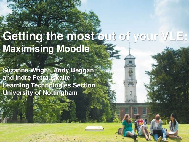 Getting the most out of your VLE: Maximising Moodle Suzanne Wright, Andy Beggan and Indre Petrauskaite Learning Technologi...