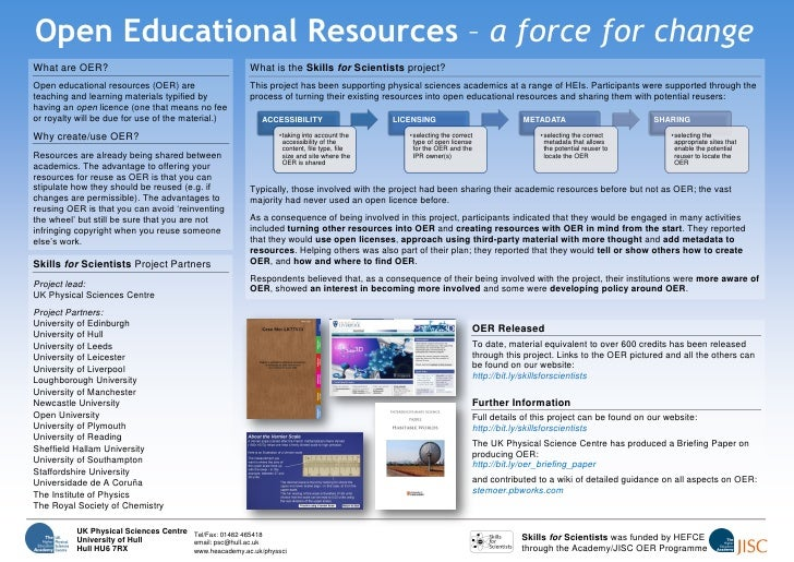 Open Educational Resources – a force for change What are OER?                                          What is the Skills ...