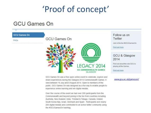 'Proof of concept' www.gcu.ac.uk/gameson/