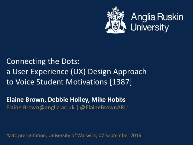 Connecting the Dots: a User Experience (UX) Design Approach to Voice Student Motivations [1387] Elaine Brown, Debbie Holle...