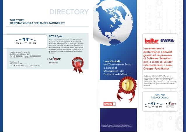 DIRECTORYDIRECTORY:ORIENTARSI NELLA SCELTA DEL PARTNER ICT                                              ALTEA SpA         ...