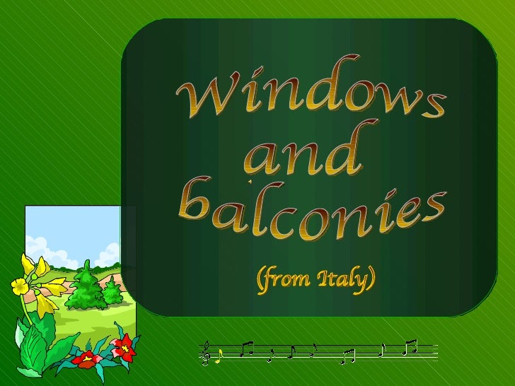 Windows and  balconies (from Italy)