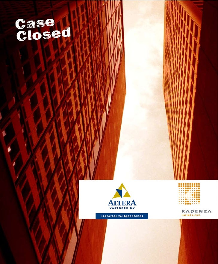 Altera Vastgoed NV is een privaat en sectoraal vastgoedfonds ten behoeve van pensioen- fondsen. Het beheerd vermogen bedra...