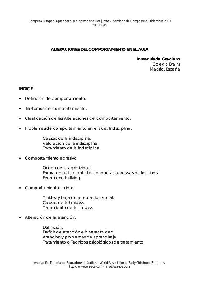 Congreso Europeo: Aprender a ser, aprender a vivir juntos - Santiago de Compostela, Diciembre 2001                        ...
