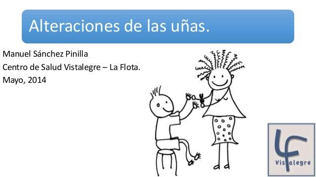Alteraciones de las uñas. Manuel Sánchez Pinilla Centro de Salud Vistalegre – La Flota. Mayo, 2014
