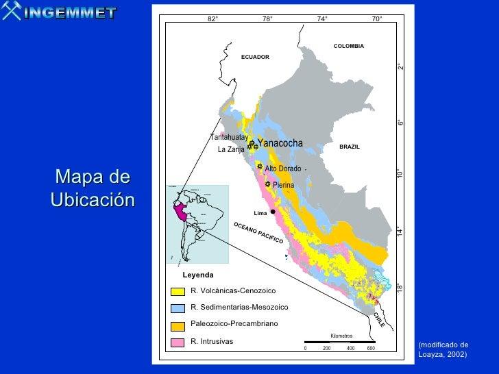 ALTERACIONES EPITERMALES DE ALTA SULFURACIÓN EN EL DISTRITO DE YANACOCHA. Slide 3