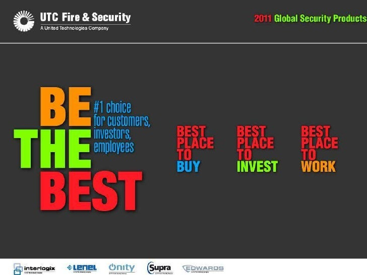 UTC Fire & SecurityGlobal Security Products   Corporate Presentation                            Sept 2010